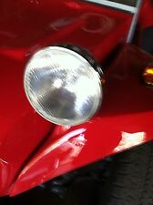 VW BUGGY OFFROAD 7 INCH CHROME HEAD LIGHT BUCKET RAT HOT ROD JEEP