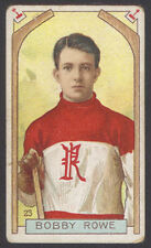 1911-12 C55 IMPERIAL TOBACCO HOCKEY #23 BOBBY ROWE ROOKIE CARD RENFREW