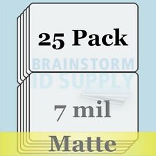 7 mil Matte Credit Card Size Butterfly Laminate Pouches for Teslin - 25 pack