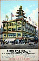 1910 Postcard: Sing Fat Co. Bazaar, Chinatown - San Francisco, California CA