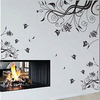 Large Vine Art Flower Butterfly Tree Wall Stickers / Wall Decals Wall art
