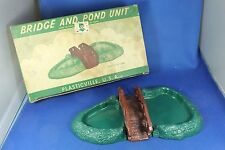 Plasticville - O-O27 - #BL-2 Bridge & Pond - Excellent Condition with Nice Box
