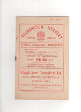 1956-57 ACCRINGTON STANLEY v MORECAMBE 17th November 1956 FA Cup 1st Round