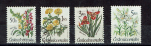 Czechoslovakia Stamps 1990 Flowers Used