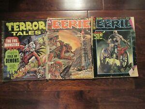 Vintage Horror Comic Magazine zombie Eerie 1970s Lot 28 65 terror tales books