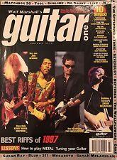 GUITAR ONE Magazine Febbraio 1998 RIFF in metallo Blur MEGADEATH Strumento Offspring Scheda imparare