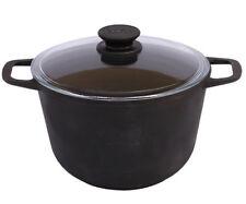 Cast Iron Casserole Pan with Glass Lid 1.06 Gal (4 Liter)