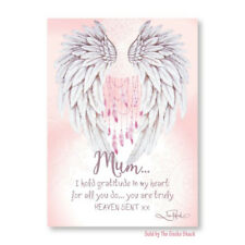 Mother Gratification Affirmation Ceramic Plaque Lisa Pollock Wings of Love Gift