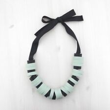 HOF115:COS Halskette ringe helltürkis / Chunky ring necklace pale turquoise