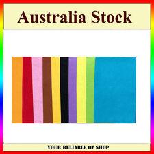 10 x Handicraft A4 Sheet Felt Fabric Crafting 1mm thick sewing Glue Scrapbooking