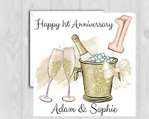Personalised Anniversary Card any number Wedding Couple Daughter Son Friends