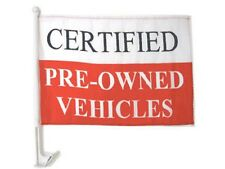 """12x18 Certified Pre-Owned Premium Car Window Vehicle 12""""x18"""" Flag"""