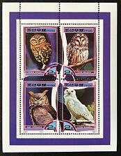 Corea 2000 ** pájaros/Birds lechuzas-owls post frescos mnh