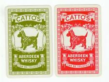 Vintage  Playing cards swap card cattos whisky dogs scotty westie drink advert