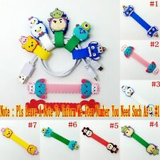 1PCS Kids Cartoon TSUM Earphone Wire Cord Winder Wrap Organizer Cable Holder