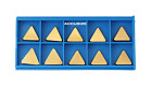 Accusize Industrial Tools TPG32(TPGN1603) Tin Coated Carbide Inserts, T Shaped,