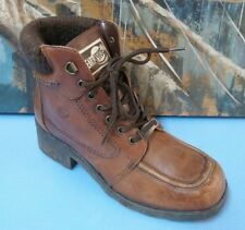 Earth  Distressed Brown Leather Boots Sz 7