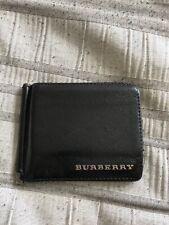 BURBERRY BLACK CHECK/BI-FOLD  LEATHER/PVC WALLET