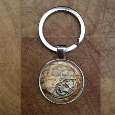 Steampunk Clock Keyring Gift