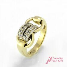 Ring in 14K/585 Gelbgold mit Brillantbesatz ca. 0,20 ct W/SI- 6,1 g - Gr. 55