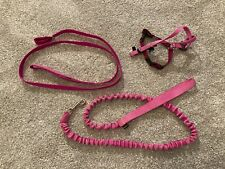 PetSafe Small Pink Pet Harness & Pink Accordion Style & Around the Neck Leashes