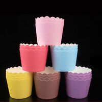 50PCS Cupcake Wrappers Cake Paper Cups Muffin Cases Baking Cup Liner Pastry Tool