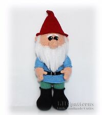 Gnome Crochet PDF Pattern, Garden Gnome PDF Pattern (Read Description)