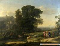 Canvas Oil painting CLAUDE - Cephalus, Procris, Diana together again - landscape