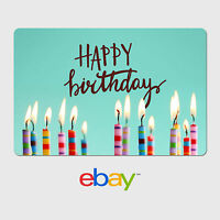 eBay Digital Gift Card - Happy Birthday Candles -  Fast email delivery