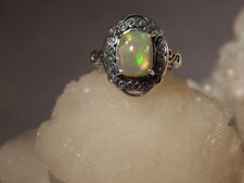1.64 CT. Oval Cabochon Ethiopian Opal Sterling Silver Keltic Setting