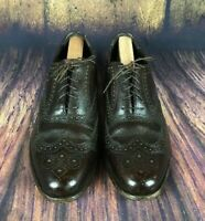 Florsheim Men's Brown  Lace Up Wing Tip Size 9 1/2D