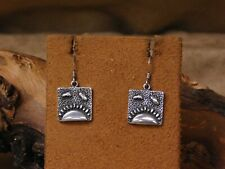 Vintage Sterling Silver Sun Wire Earrings