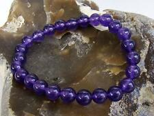 Natural Gemstone Women's Streatchable bracelet 8mm PURPLE JADE beads