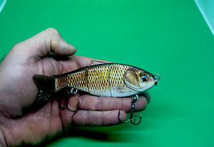 """Baby Carp Swimbait Jointed Soft tail  5.51"""" 1.34oz Rattling Sinking"""