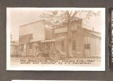 Vtg Postcard Virginia City Mont The Blacksmith Shop C F Sauerbier RPPC MT