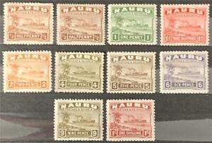 Nauru. Definitive Stamp Short Set. SG26B/36B. 1937-48. LM/MNH.  #TS75.