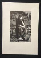 Karl Rössing, ohne Titel, Holzstich, 1935, handsigniert und datiert