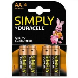 AA Duracell Alkaline Battery 4 Pack Bateries