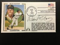 Willie McCovey Autograph PSA 1986 HOF Cooperstown Induction Envelope Giants