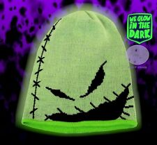 New Disney Glow In The Dark Nightmare Before Christmas Oogie Boogie Beanie Hat