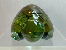 Glass Turtle Cut/Carved Color Aqua, Amber, Figurine