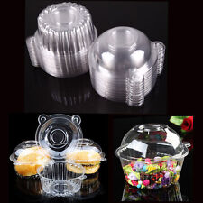 50Pcs Plastic Individual Single Cupcake Muffin Case Pods Domes Cup Cake Boxes