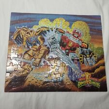 Vintage Mighty Morphin Power Rangers Puzzle Complete 100 Pieces Glitter Sparkle