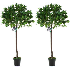 LARGE ARTIFICIAL FAKE TREE INDOOR OUTDOOR HOME HOUSE PLANT BAY LEAF 120CM OFFICE