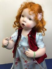 "15"" OOAK Artist Doll Porcelain Limited ""Fanny"" By Verena Eising Red Head W/ Tag"