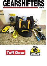Black Rat Tuff Gear 4WD 4X4 Off Road Winch Recovery Kit Snatch Strap Ten Piece
