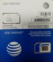 AT&T SIM OEM NANO 4G LTE sim card NEW UNACTIVATE, TRIPLECUT SIM sku6661a