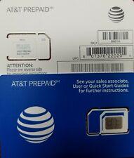AT&T SIM OEM NANO 4G LTE sim card NEW UNACTIVATE, TRIPLE CUT SIM (3in1) sku6661a