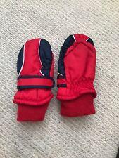 boys girls next childrens 3-6 ski winter gloves red and blue thinsulate 40 gram