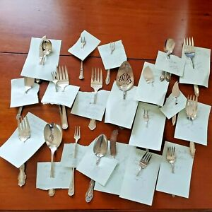 Antique Silverware Serving Pieces Lot of 22 all in VG Condition and Identified